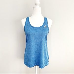 Adidas Racer Back Striped Athletic Tank Top Sz M